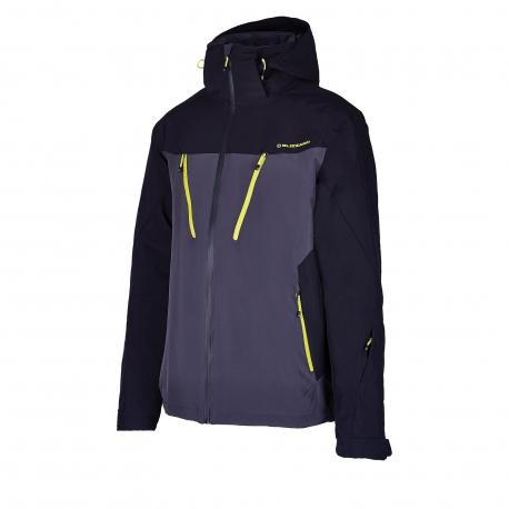 Pánska lyžiarska bunda BLIZZARD-Mens Ski Jacket Stelvio, grey/black/neon yellow