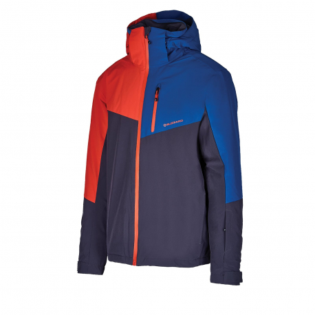Pánska lyžiarska bunda BLIZZARD-Mens Ski Jacket Cervinia, grey/petroleum blue/red