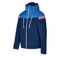 Pánska lyžiarska bunda BLIZZARD-Mens Ski Jacket Civetta, dark blue/bright blue/whit