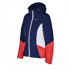 Dámska lyžiarska bunda BLIZZARD-Viva Ski Jacket Pinzolo, dark blue/rosa/white