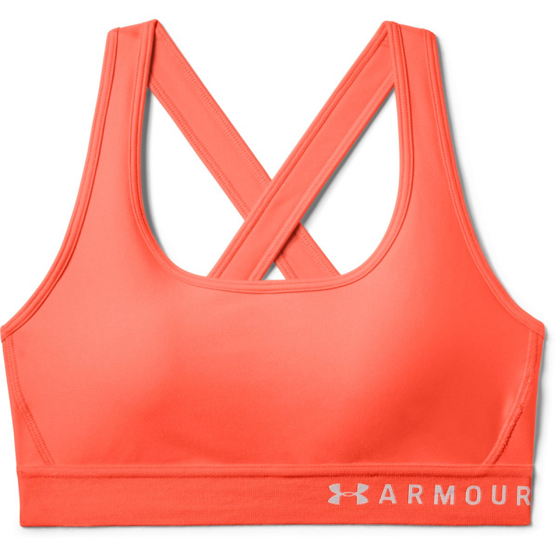 Dámska tréningová športová podprsenka UNDER ARMOUR-Armour Mid Crossback Bra-ORG -