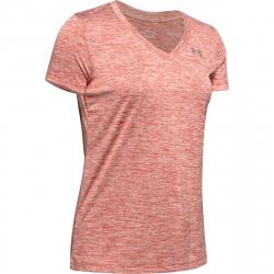 Dámske tréningové tričko s krátkym rukávom UNDER ARMOUR-Tech SSV - Twist-PNK dark