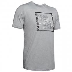 Pánske tréningové tričko s krátkym rukávom UNDER ARMOUR-UA RHYTHM SS-GRY