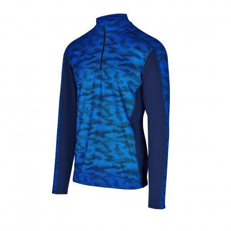 Pánske tričko s dlhým rukávom AUTHORITY-DRY7M blue