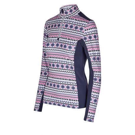 Dámské triko s dlouhým rukávem AUTHORITY-DRY7W P ZIP pink