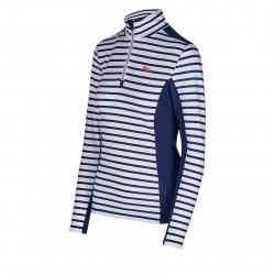 Dámské triko s dlouhým rukávem AUTHORITY-DRY7W P ZIP dk blue