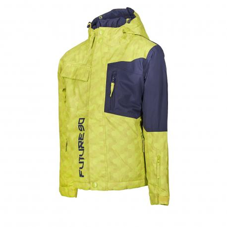 Chlapčenská lyžiarska bunda AUTHORITY KIDS-FURT90 B neon