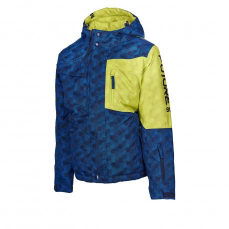 Chlapčenská lyžiarska bunda AUTHORITY KIDS-FURT90 B dk blue