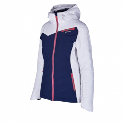 Dámska lyžiarska bunda BLIZZARD-Viva Ski Jacket Carezza, dark blue/white/light grey/pink