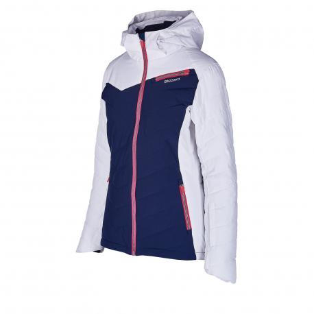 Dámska lyžiarska bunda BLIZZARD-Viva Ski Jacket Carezza, dark blue/white/light grey/pink