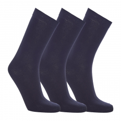 Ponožky AUTHORITY-SOCK HIGH 3 PCK BLACK