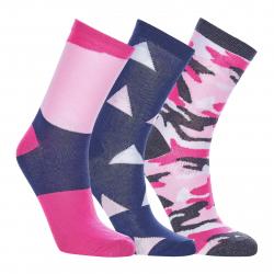 Ponožky AUTHORITY-SOCKS HIGH STRIPE 3 PCK pink