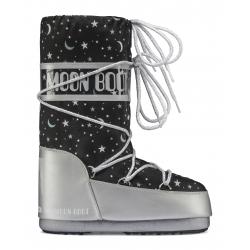 Dievčenská zimná obuv vysoká MOON BOOT-MBUNIVERSE silver/black