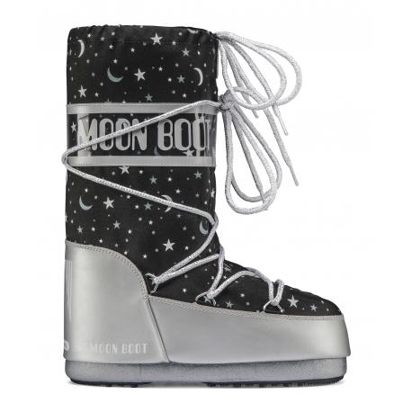Dívčí zimní obuv vysoká MOON BOOT-MBUNIVERSE silver / black
