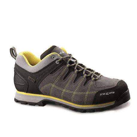 Pánska turistická obuv nízka TREZETA-HURRICANE EVO LOW WP GREY-YELL