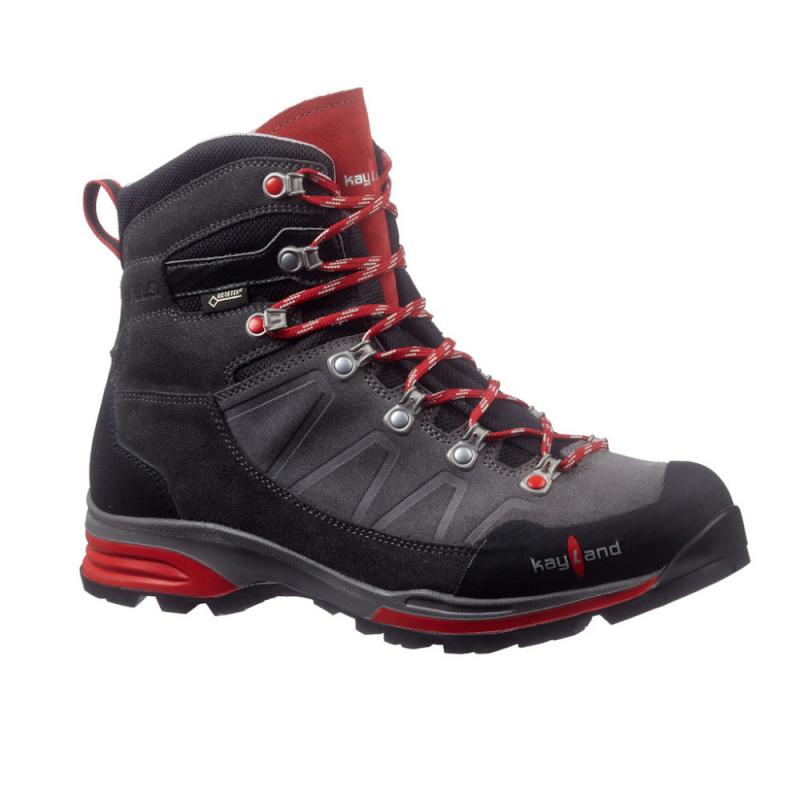 Pánska turistická obuv vysoká KAYLAND-TITAN ROCK GTX GREY RED -