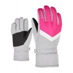 Detské lyžiarske rukavice ZIENER-LANDALA GIRLS glove junior-191930-766823-Grey light