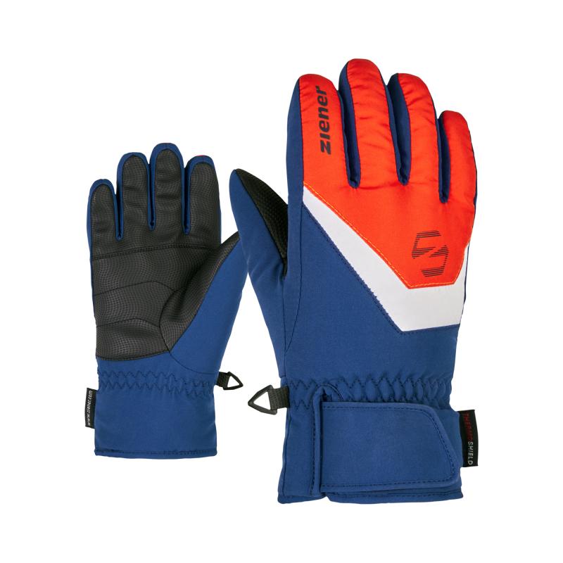 ZIENER-LORIK glove junior-801919-421143-Red 6.5 Červená