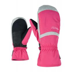 Detské lyžiarske rukavice ZIENER-LEJANOS AS(R) MITTEN glove junior-801947-766-Pink dark