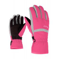 Detské lyžiarske rukavice ZIENER-LEJANO AS(R) glove junior-801946-766-Pink dark