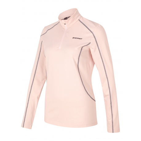 Dámská termo mikina s 1/2 zipem ZIENER-JEMILKI lady (underlayer) -197151-801-Pink light