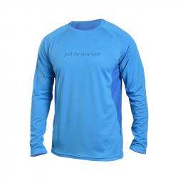 Pánske turistické tričko s dlhým rukávom NORTHFINDER-ONDREJISKO-blue