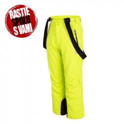 Chlapčenské lyžiarske nohavice 4F-BOYS-SKI TROUSERS-HJZ19-JSPMN001A-45S-CANARY GREEN