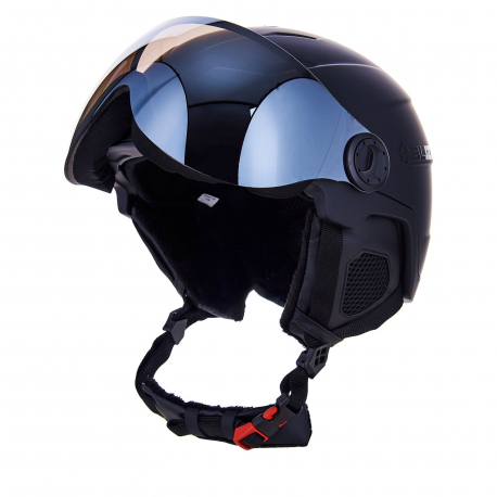 Lyžiarska prilba so štítom BLIZZARD-Double Visor ski helmet, black matt, big logo, smoke lens, m