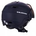 Lyžařská helma se štítem BLIZZARD-Double Visor ski helmet, black matt, smoke lens, mi -