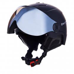 Lyžiarska prilba so štítom BLIZZARD-Double Visor ski helmet, black matt, smoke lens, mirror