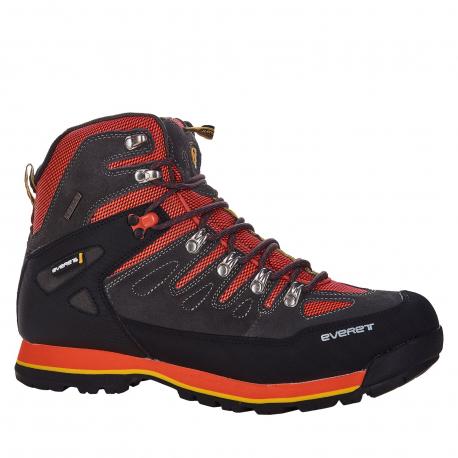 Pánska turistická obuv vysoká EVERETT-Almais grey/red