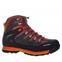Pánska turistická obuv vysoká EVERETT-Almais grey/red -
