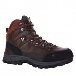 Pánska turistická obuv vysoká EVERETT-Rockbuhl brown