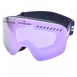 Lyžiarske okuliare BLIZZARD-Ski Gog. 983 MDAVZO, white shiny, smoke2, purple REVO