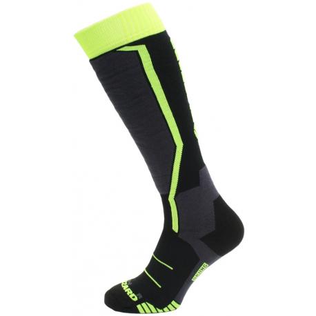 Juniorské lyžařské podkolenky (ponožky) BLIZZARD-Allround ski socks junior, black / anthracite / signal yellow