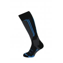 Juniorské lyžařské podkolenky (ponožky) BLIZZARD-Allround ski socks junior, black / anthracite / blue