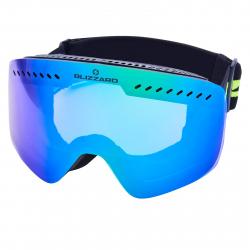 Lyžiarske okuliare BLIZZARD-Ski Gog. 983 MDAVZO, black matt, smoke2, green REVO