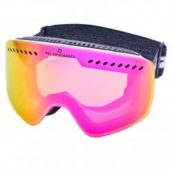Lyžiarske okuliare BLIZZARD-Ski Gog. 983 MDAVZOW, white shiny, smoke2, pink REV