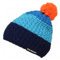 Zimná čiapka BLIZZARD-Tricolor, blue/navy/orange