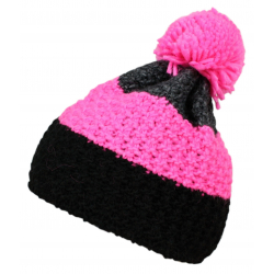 Zimná čiapka BLIZZARD-Tricolor, grey/pink/black
