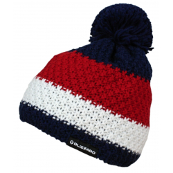 Zimná čiapka BLIZZARD-Quest blue/white/red
