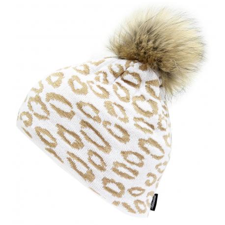 Zimná čiapka BLIZZARD-Leopard, white