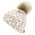 Zimná čiapka BLIZZARD-Leopard, white -