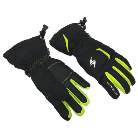 Juniorské lyžařské rukavice BLIZZARD-Reflex junior ski gloves, black / green