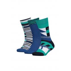 Dětské ponožky TOMMY HILFIGER-Kids Pen Giftbox 3P Aqua Green