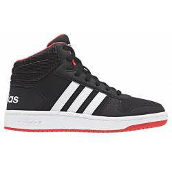 Juniorská rekreační obuv ADIDAS-Hoops MID 2.0 cblack / clowhite / hired