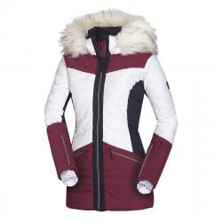 Dámska lyžiarska bunda NORTHFINDER-IRNES-darkred