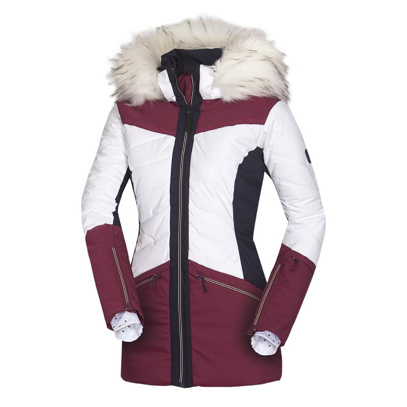Dámska lyžiarska bunda NORTHFINDER-IRNES-darkred -