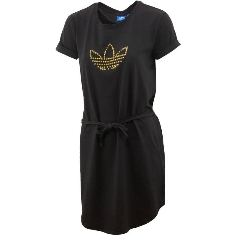 Dámske šaty ADIDAS ORIGINALS-TEE DRESS   BLACK METGOL - 6a9c3e6c635