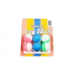 Stolnotenisová lopta TIBHAR-Tibhar Funballs, x6, bicoloured